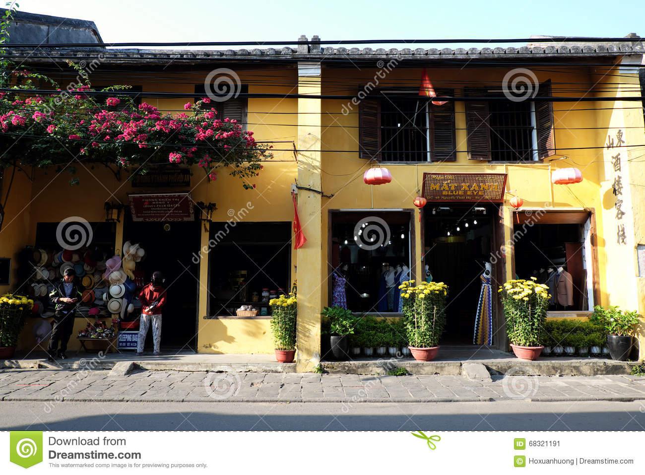 Hoi An, Hoian Old Town, Vietnam Travel Editorial Photo.