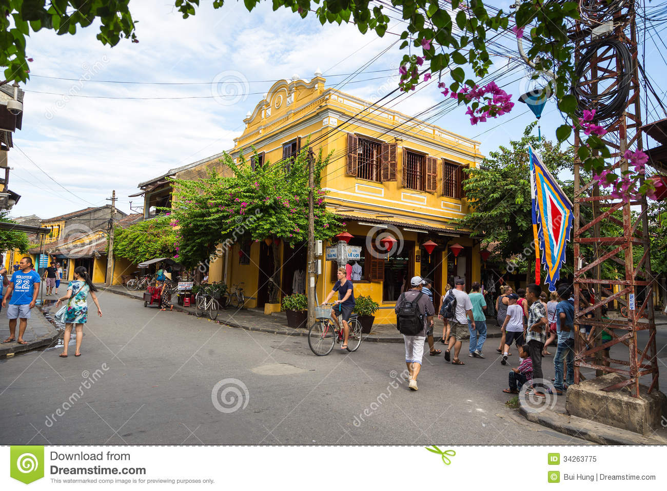Hoi An Ancient Town Under Blue Sky Editorial Image.