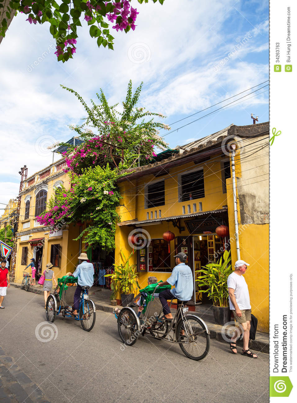 Hoi An Ancient Town Under Blue Sky Editorial Stock Photo.