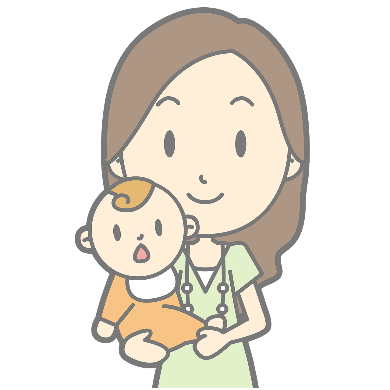 Mommy holding baby clipart. Free download..
