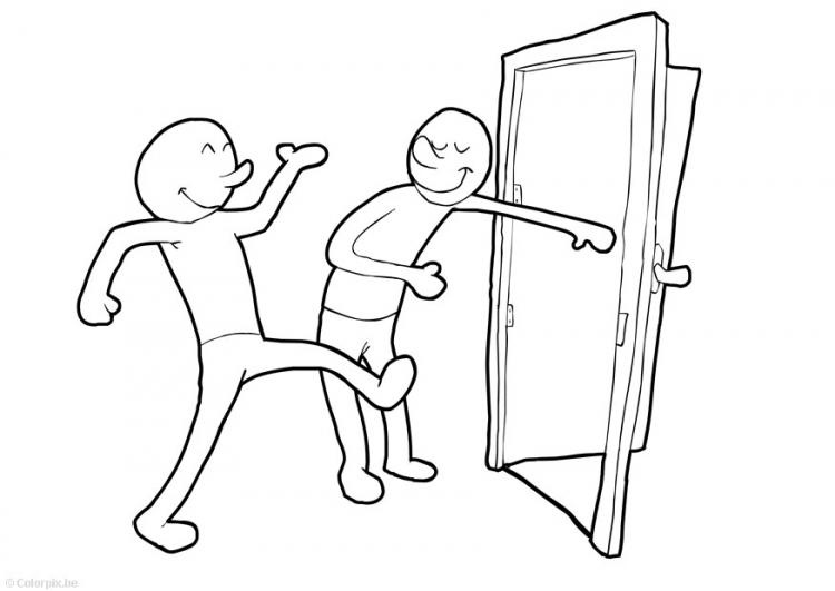 Holding Door Clipart.