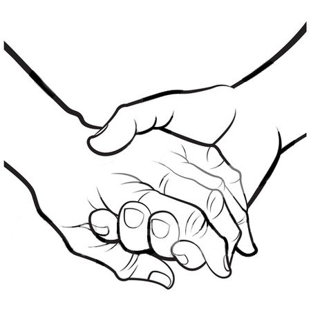 Holding Hands Clipart Black And White Clipart Panda Free Clipart.