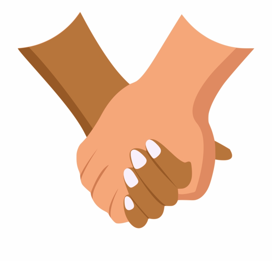 holding hand clipart #9