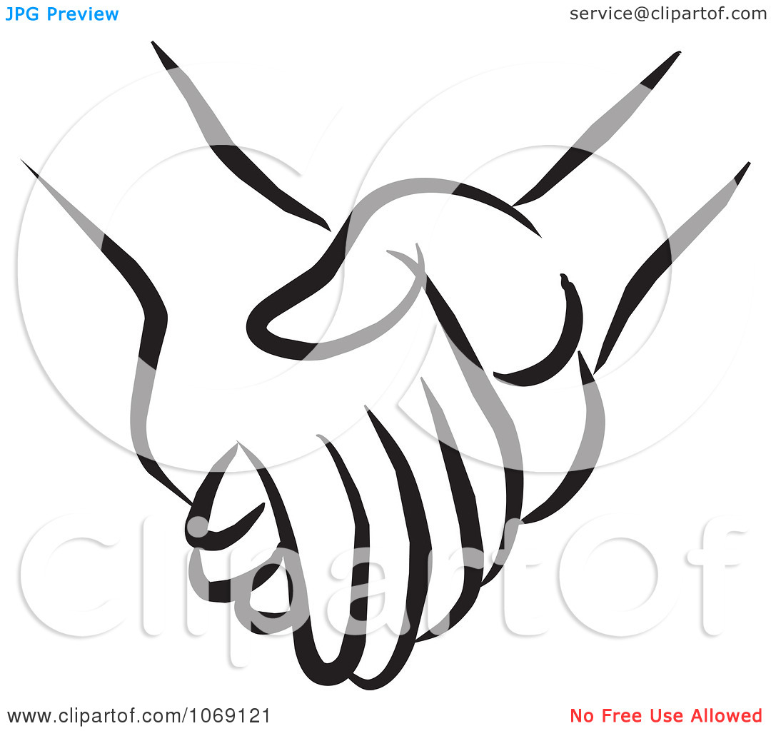 Stick People Holding Hands Clipart.