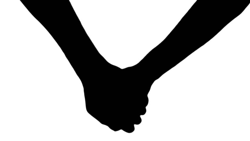 Silhouette Hand Holding.