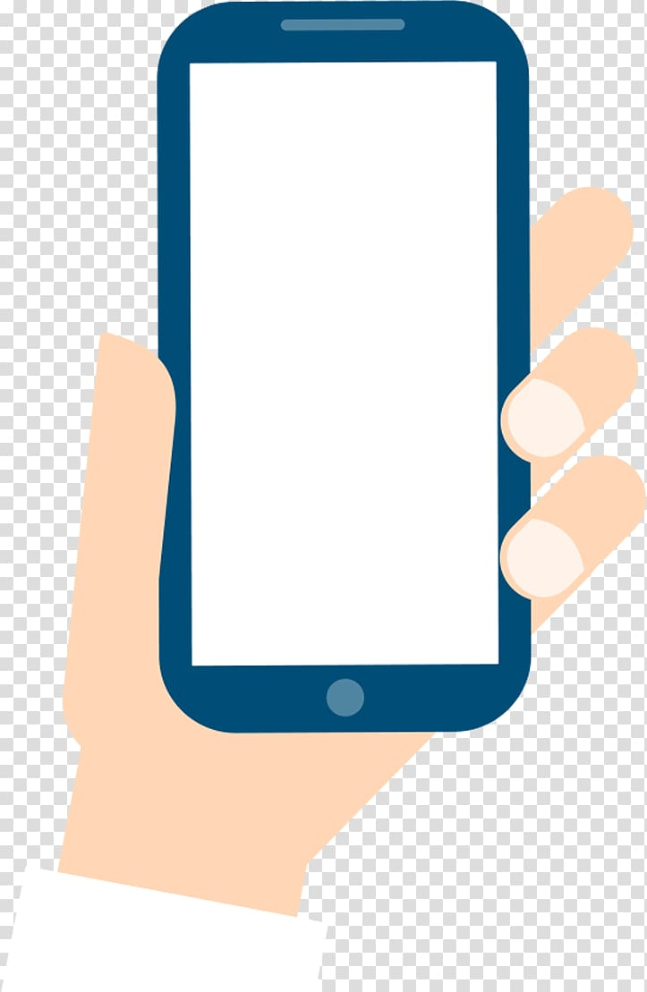 Person holding smartphone, Smartphone Mobile phone Cartoon.