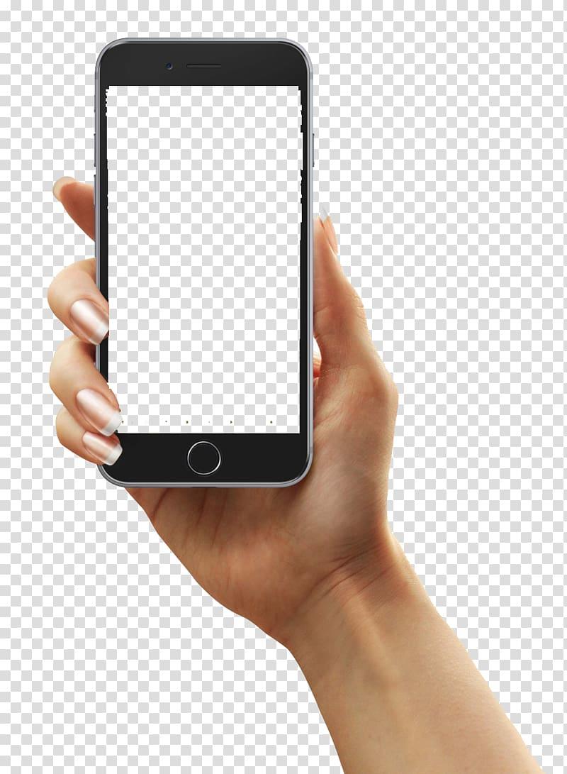 Person holding iPhone, BLT Hedelmxe4llisyystietokone Basal.