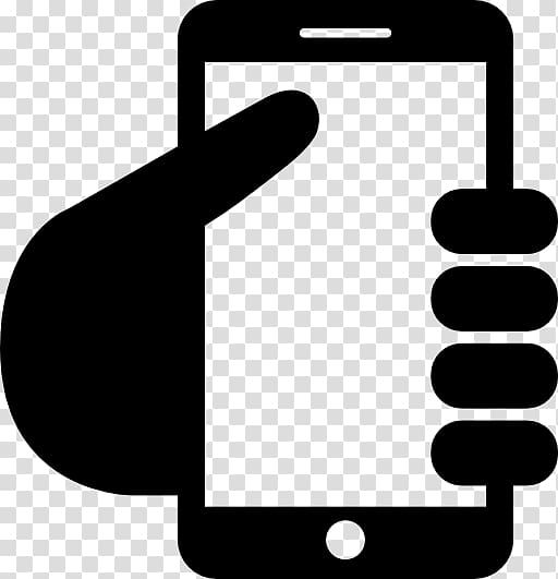 Person holding phone illustration, iPhone 4S Computer Icons.