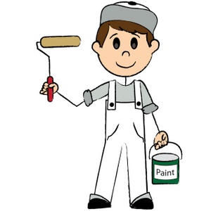 Painter Clipart Image Male Stick Figure Painter Holding A Can Of.