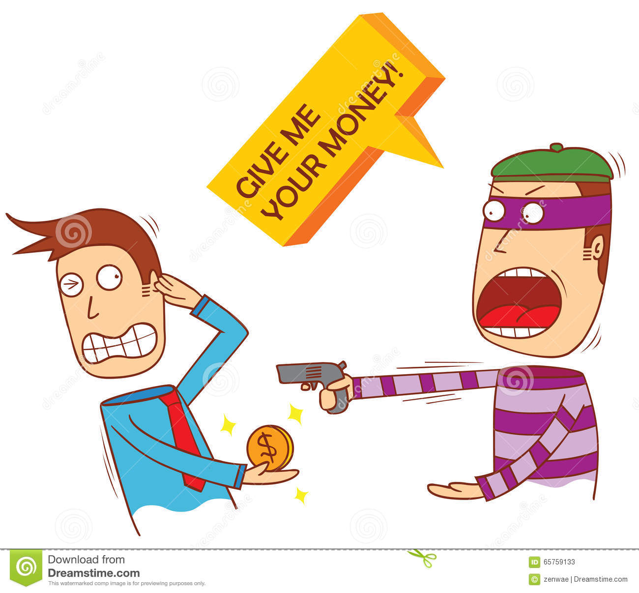 Hold Up Man Stock Vector.