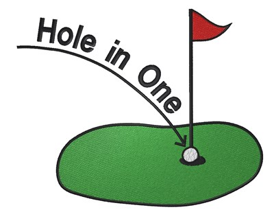 Hole In One Embroidery Design.
