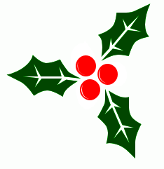 Free Christmas Clip Art Holly.
