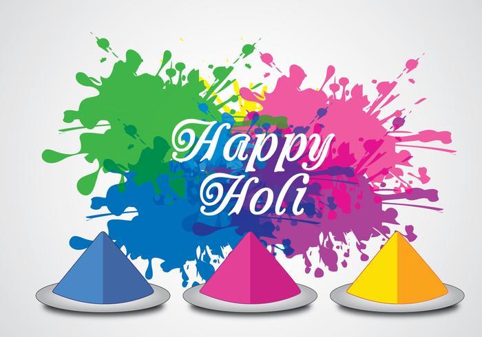 Happy Holi Background Vector.