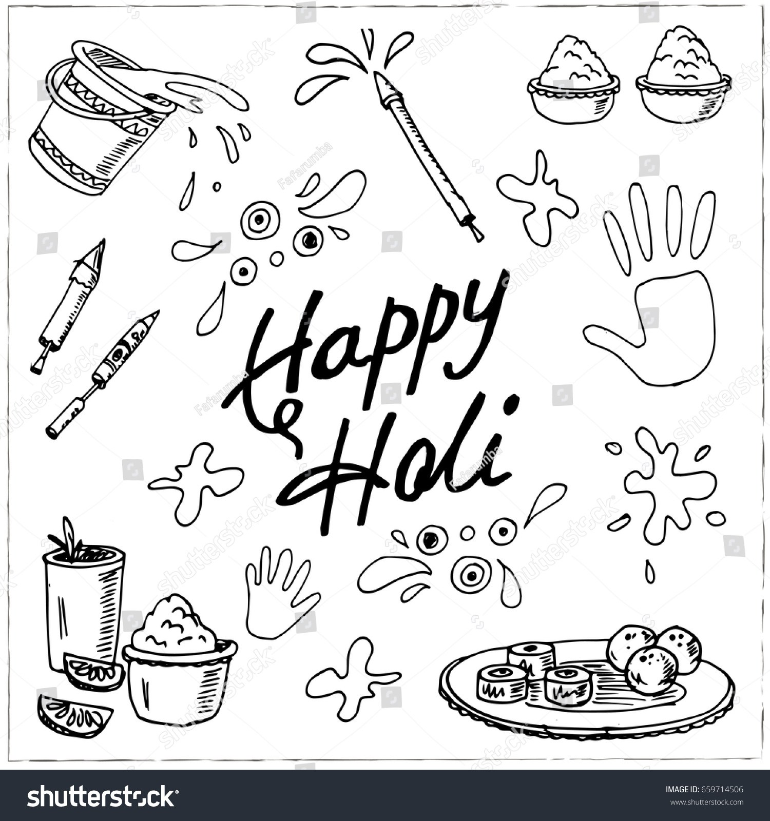 Holi clipart black and white 7 » Clipart Portal.