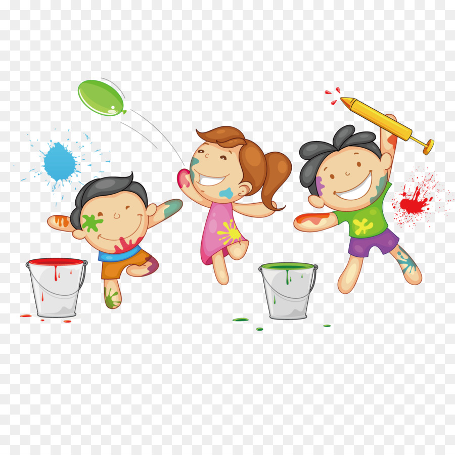 Holi Drawing Clipart.