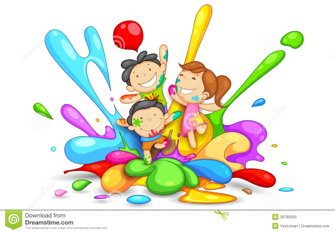 Holi colours clipart 4 » Clipart Station.