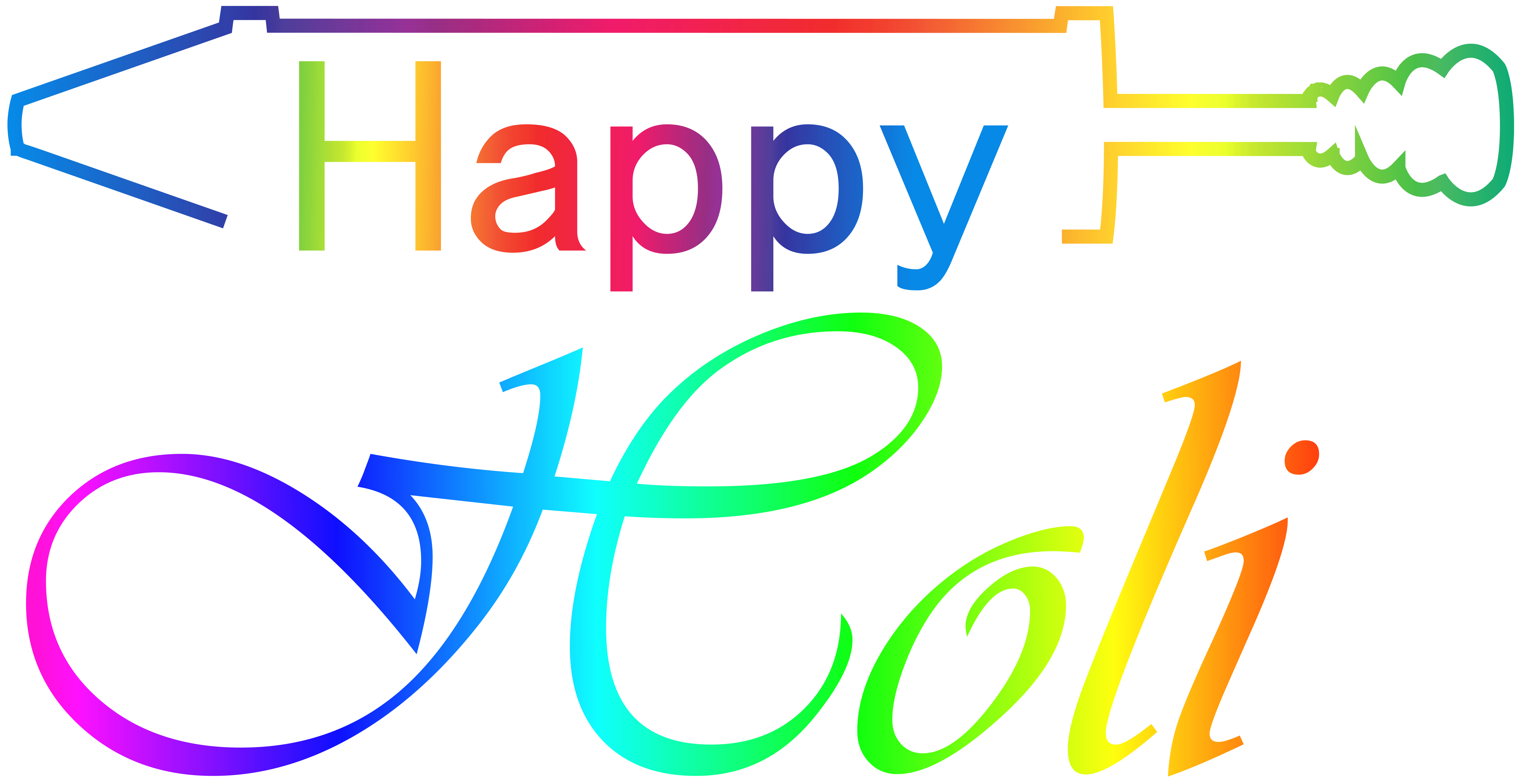 Happy Holi Transparent Clip Art Image.