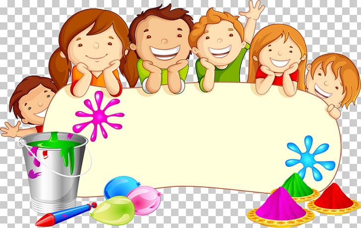 Holi Festival graphics Illustration, kindergarten decorative.