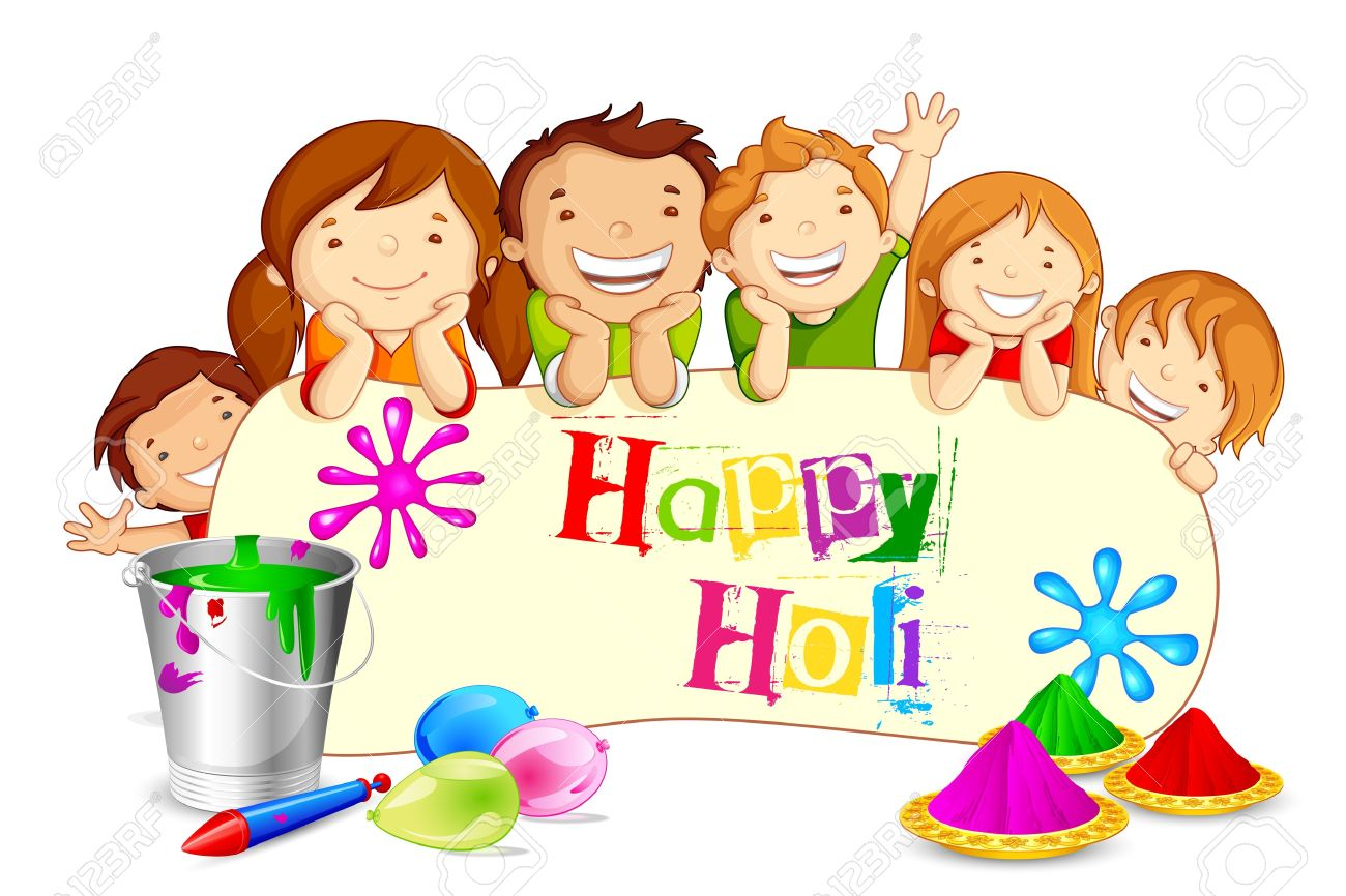 Clipart On Holi.