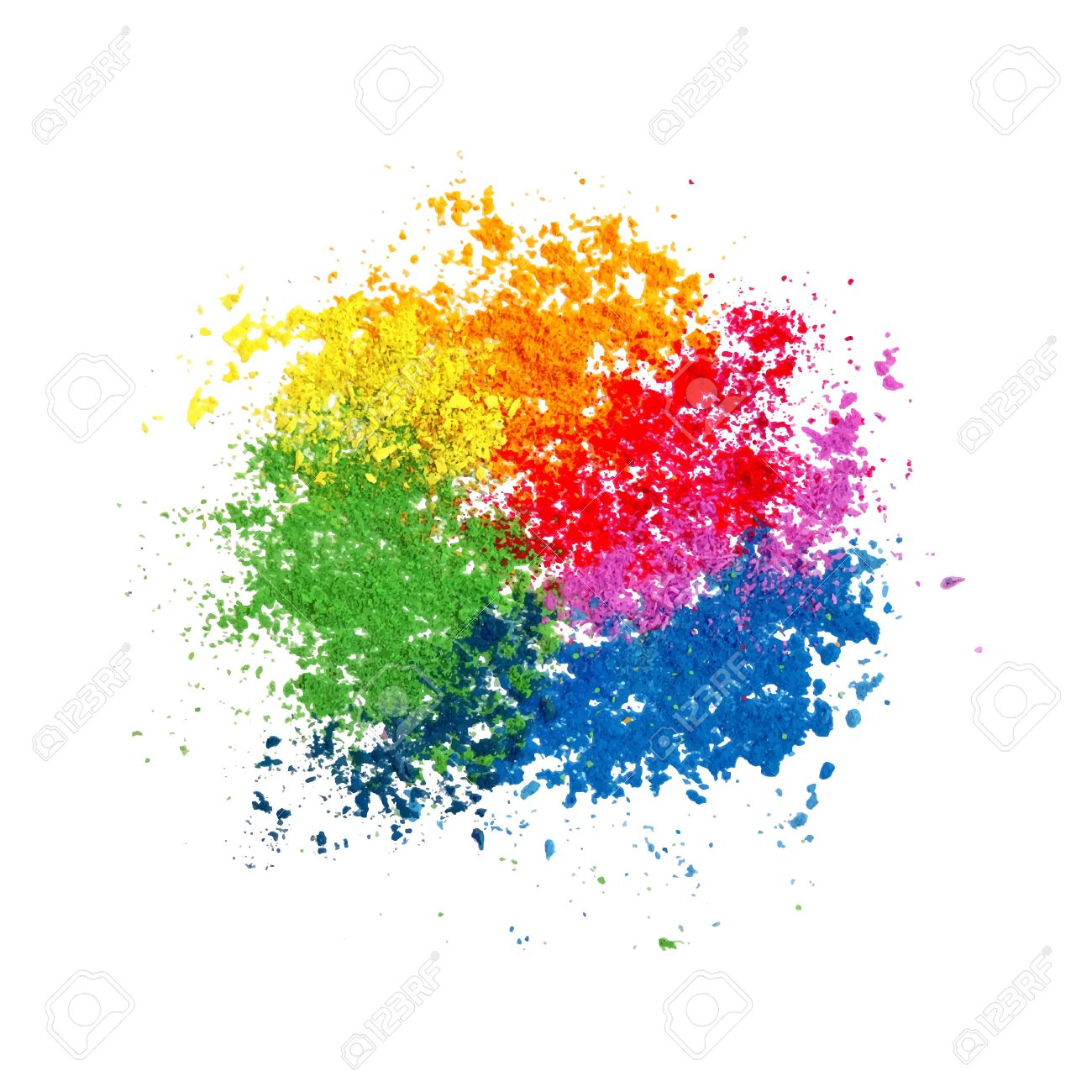 Holi colours clipart » Clipart Station.