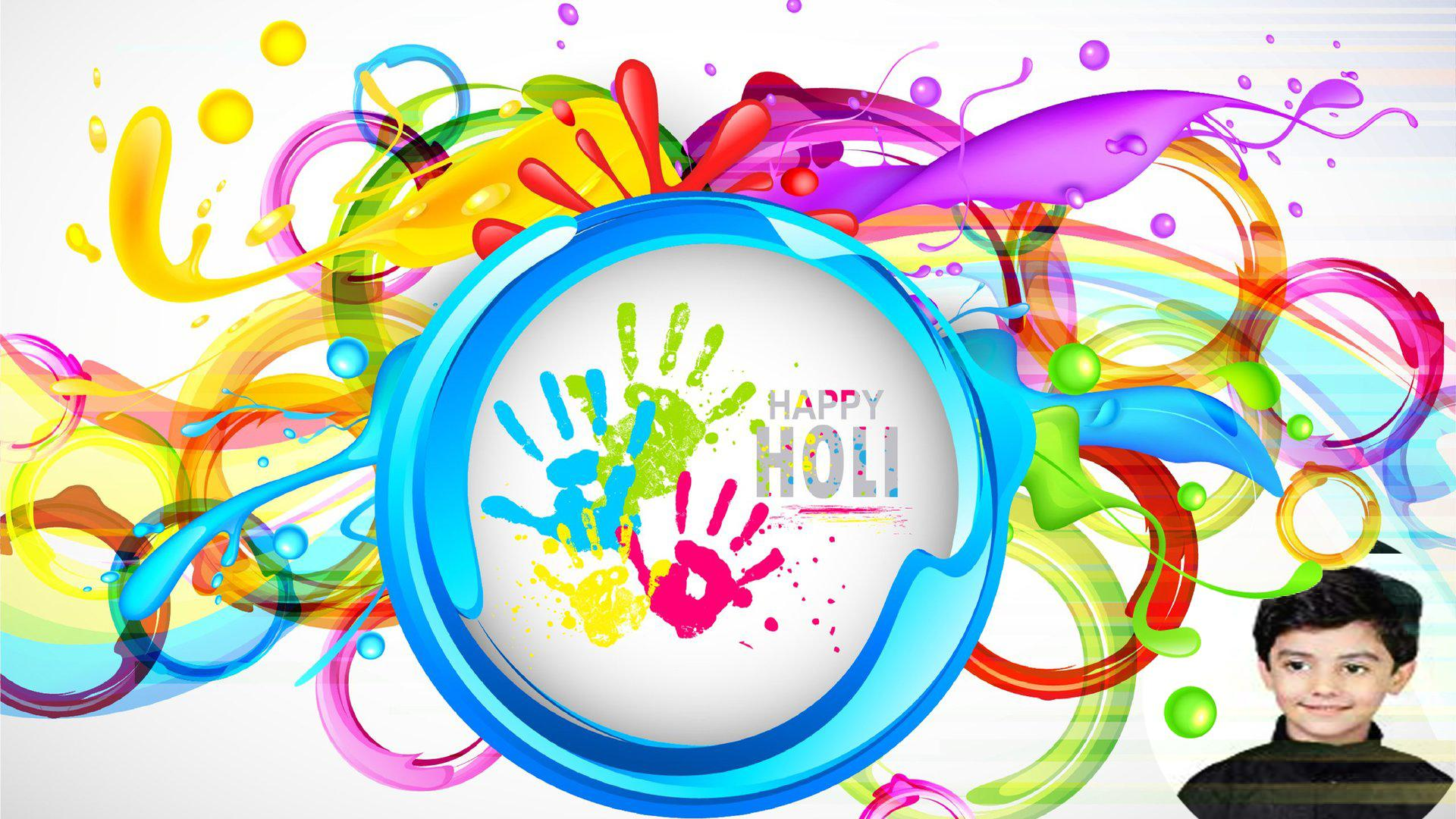 Happy Holi Photo Frame for Android.