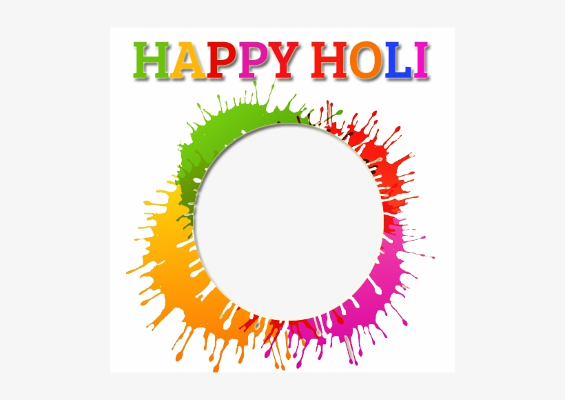 Holi Festival Nice Photo Frame With Your Photo For.