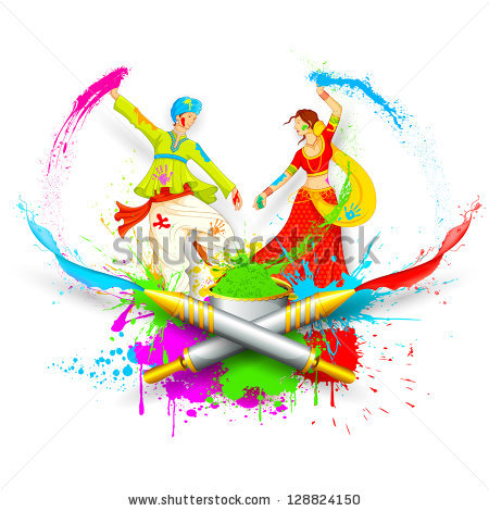 Indian Holi Stock Photos, Royalty.