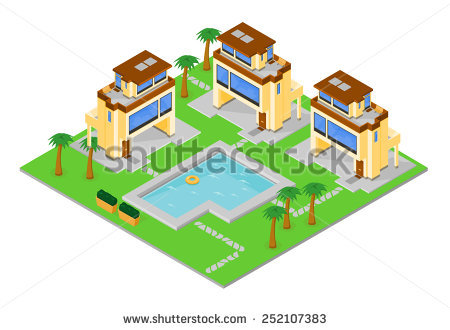 Apartments Holiday Clip Art, resort apartment complex Vacation.