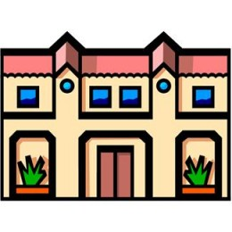 Apartment Complex Clipart.