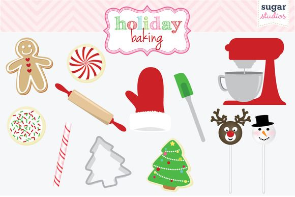 Check out Holiday Baking Digital Clipart by SugarStudios on Creative.