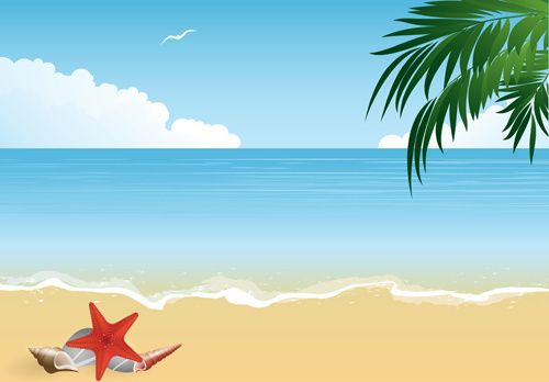 summer holiday beach creative background vecor.