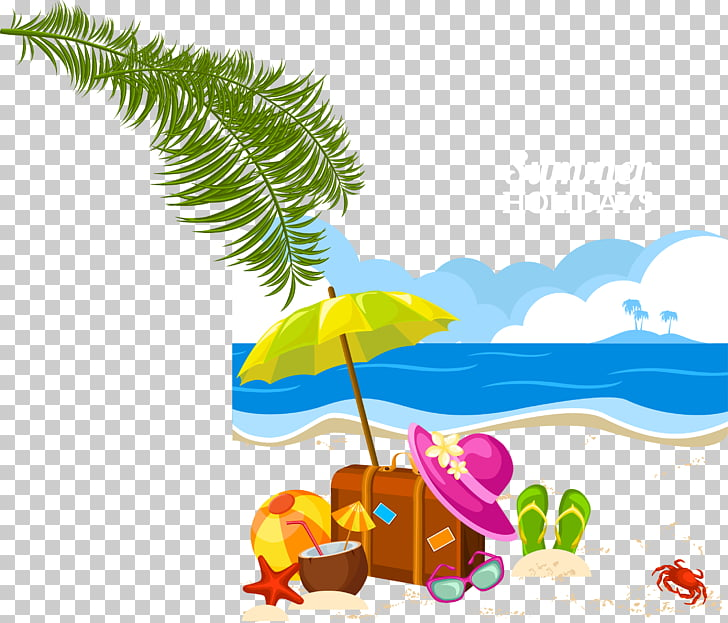 Holiday Summer vacation , beach PNG clipart.