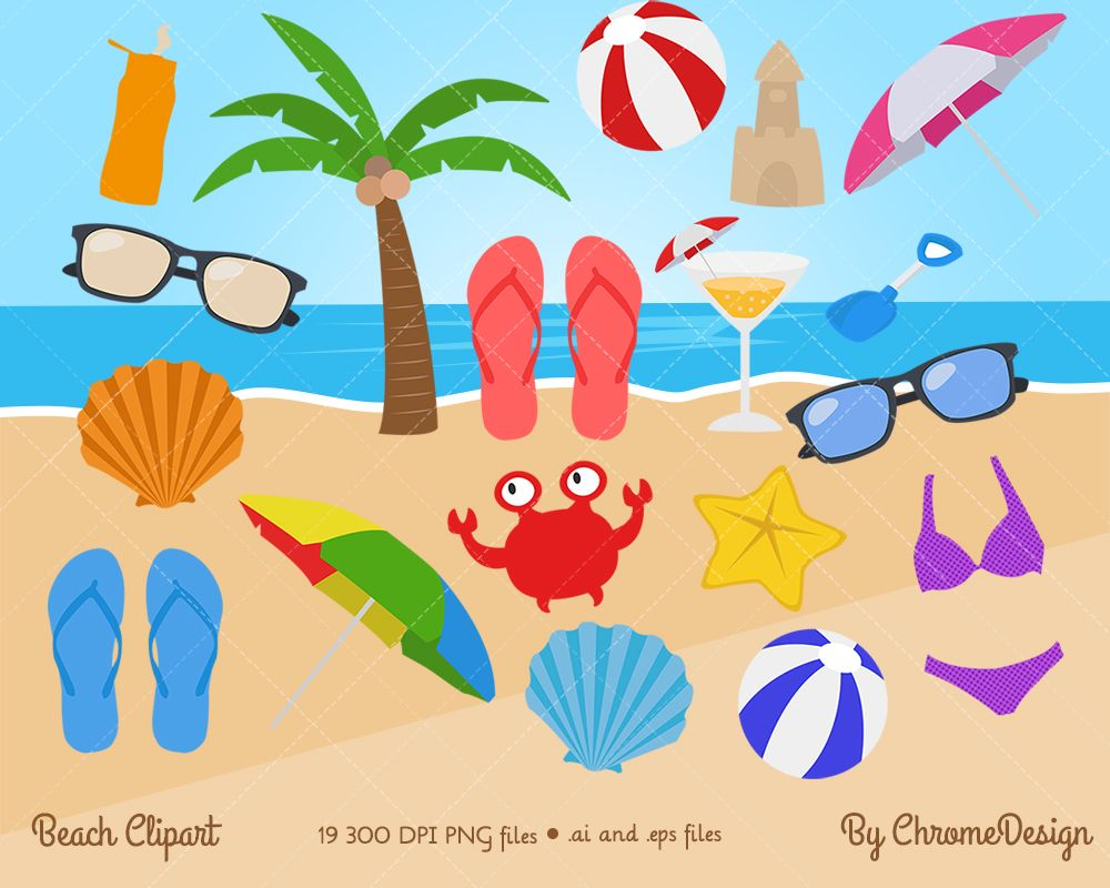 Get ready for the holidays with this awesome beach clipart.