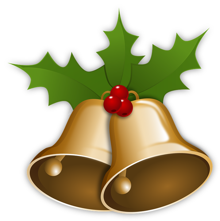 Free vector graphic: Bells, Christmas, Xmas, Holly.