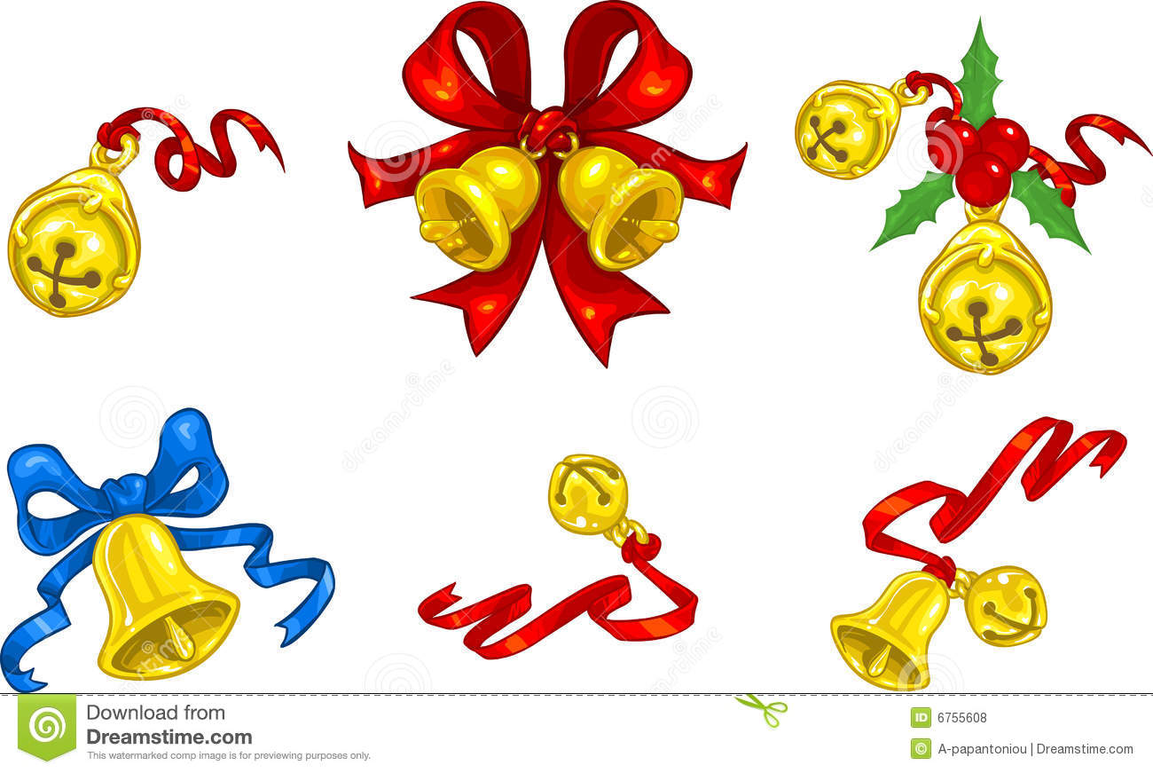 Holiday Jingle Bell Free Clipart.