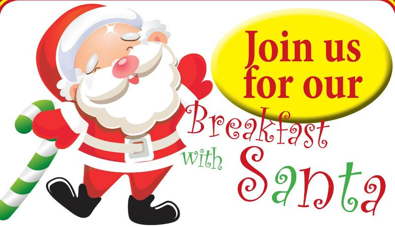 Free Breakfast With Santa Clipart.