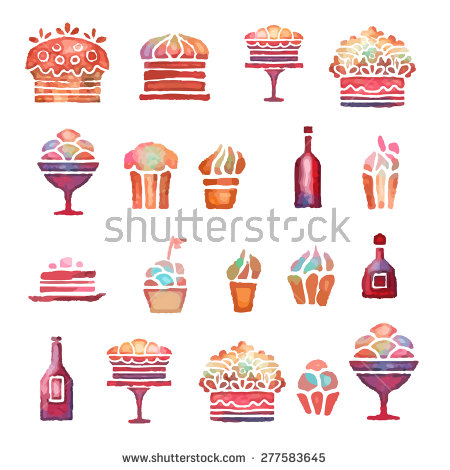 Holiday Cake Isolated On White Background Stock Vector 161550986.