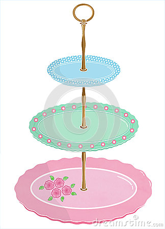Cakestand Stock Illustrations.