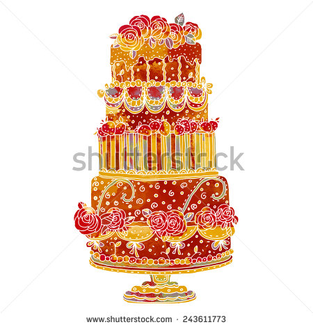Holiday cake plate clipart #17