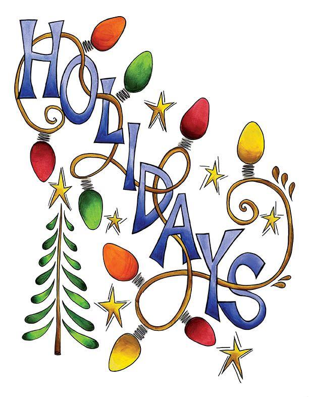 December Holiday Celebration Holiday Clipart.