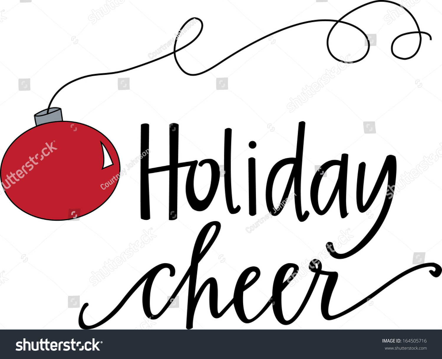 Holiday Cheer Stock Vector (Royalty Free) 164505716.