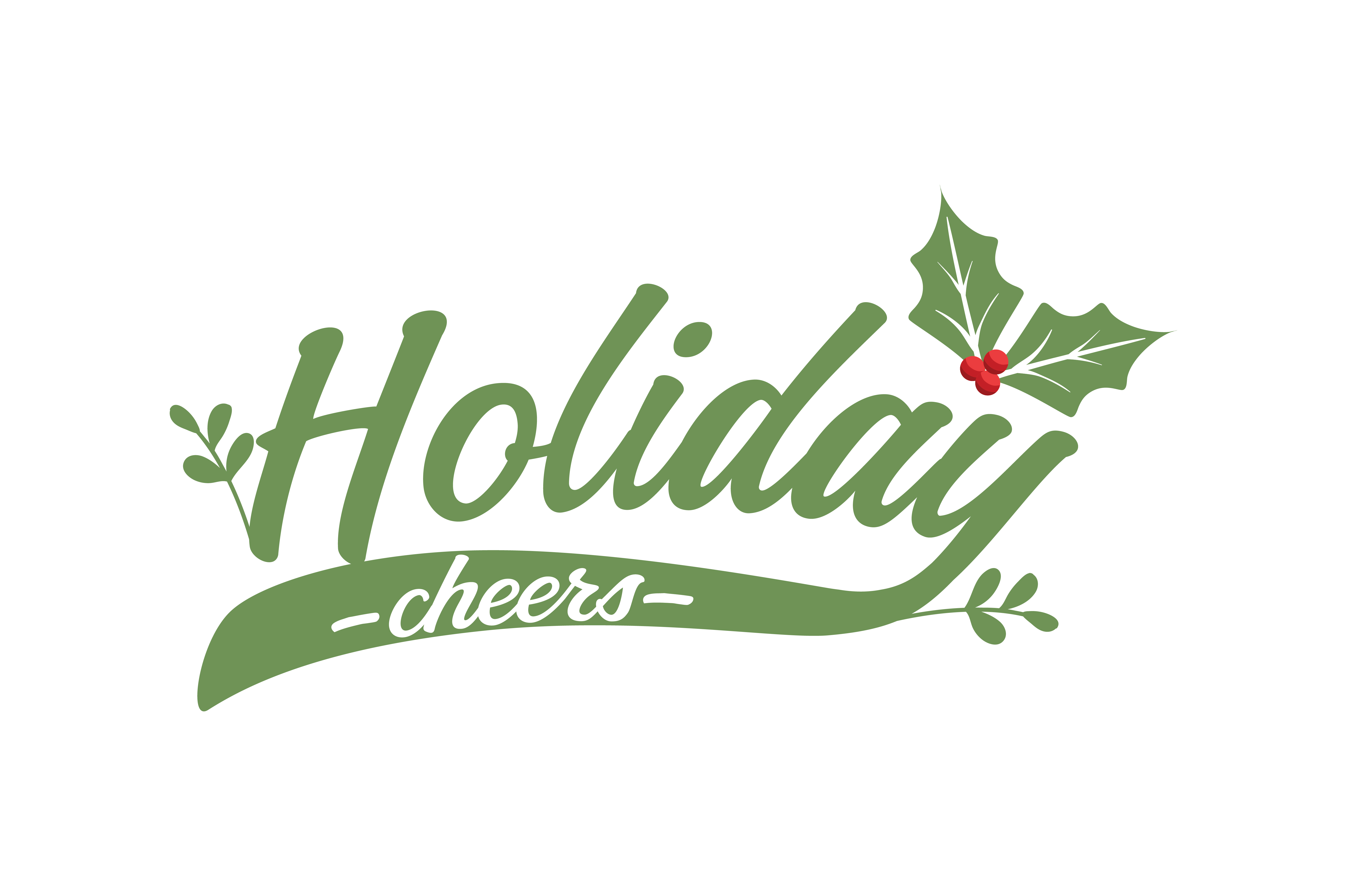 Holiday Cheers SVG Cut.