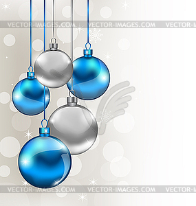 Holiday background with Christmas balls.
