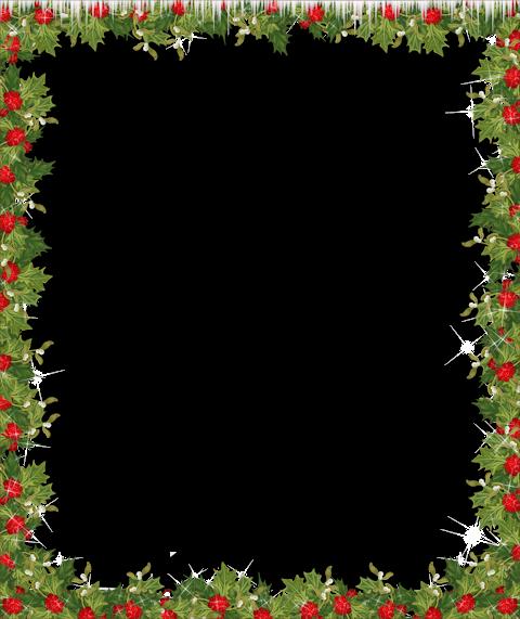 Holiday Transparent Frame.