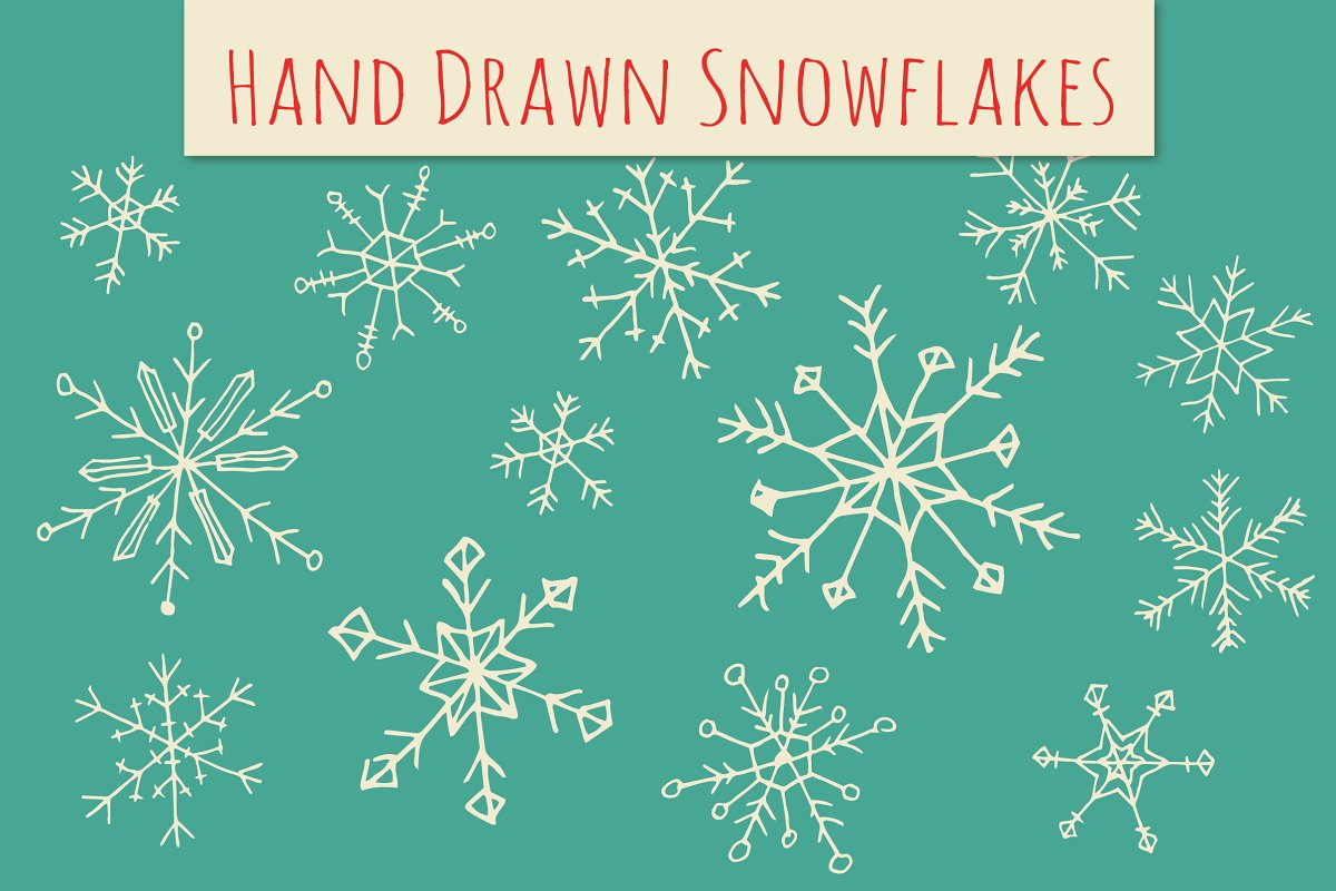 Holiday Snowflakes ClipArt.