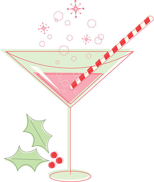 Best Christmas Martini Illustrations, Royalty.