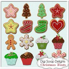 Holiday Cookie Clip Art.