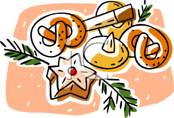 Clipart Picture Of A Bunch Of Holiday Cookies.