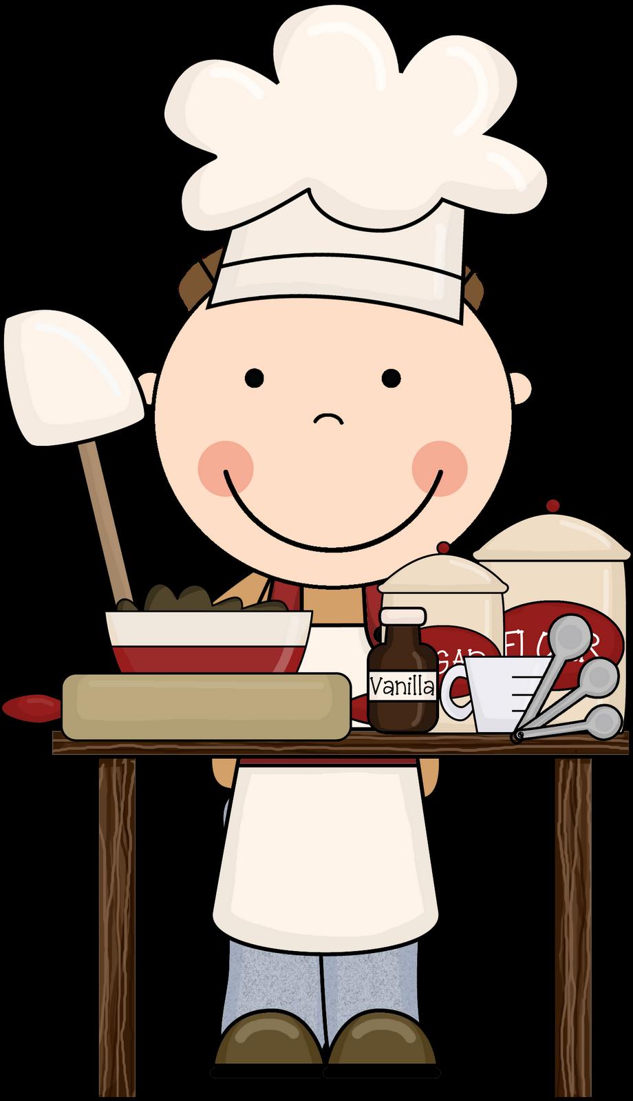 Kids cooking clip art.