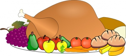 Holiday food clipart.